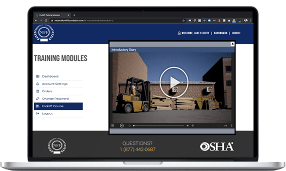 Forklift Certification Course On Laptop